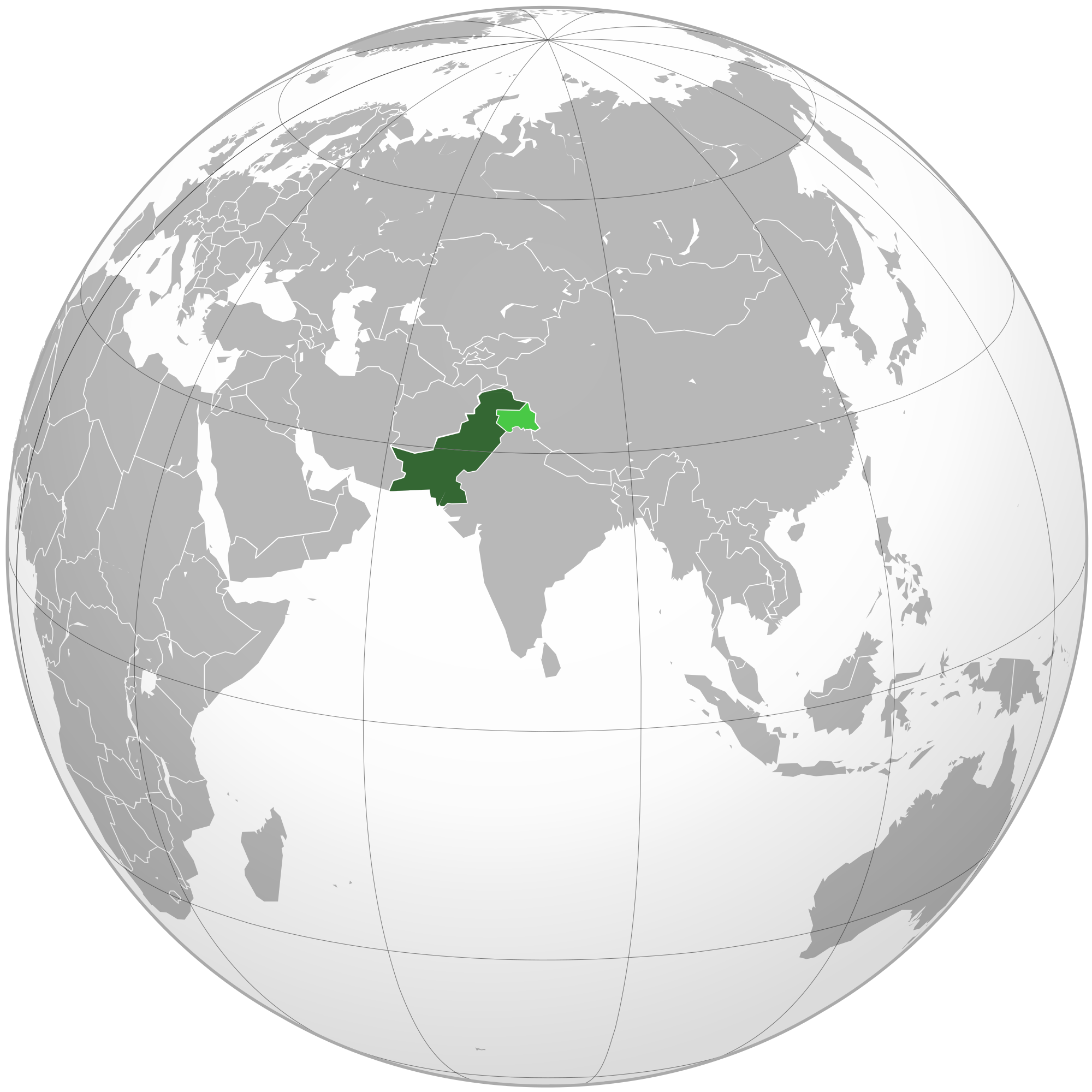 Pakistan-(orthographic-projection)