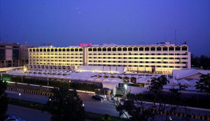 Islamabad Marriott Hotel Front View From Out