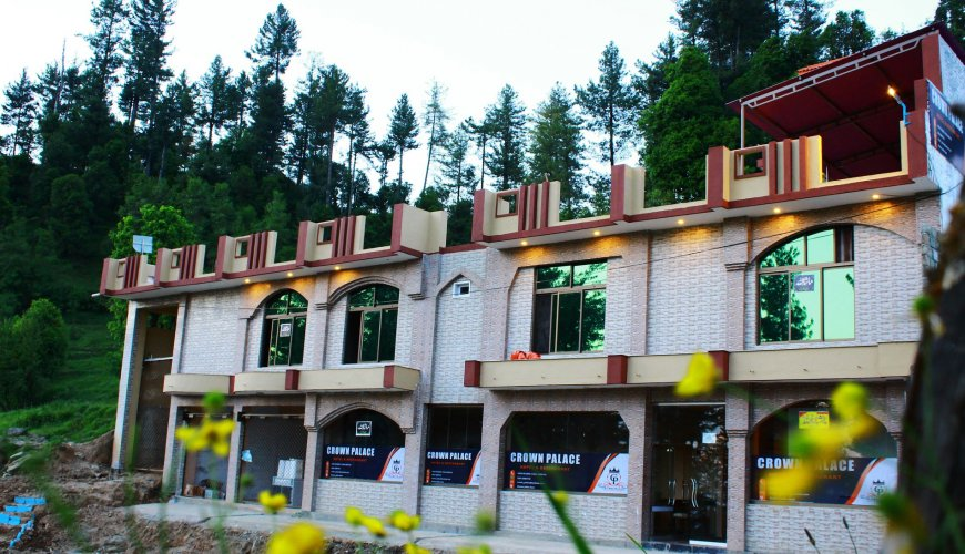 Crown Palace Hotel & Restaurant Malam Jaba Swat Building Front View