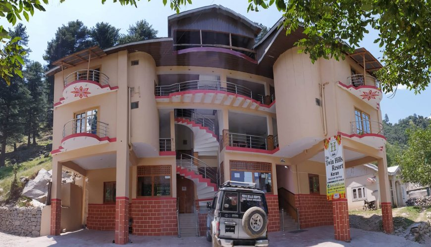The twin hill resort keran Hotel Building Front Full View